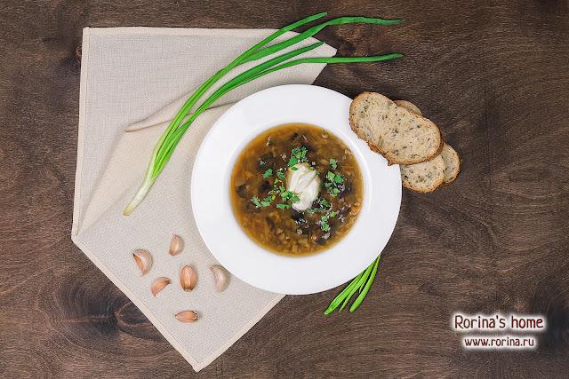 Суп грибной с перловкой из сушеных грибов: рецепт пошагово