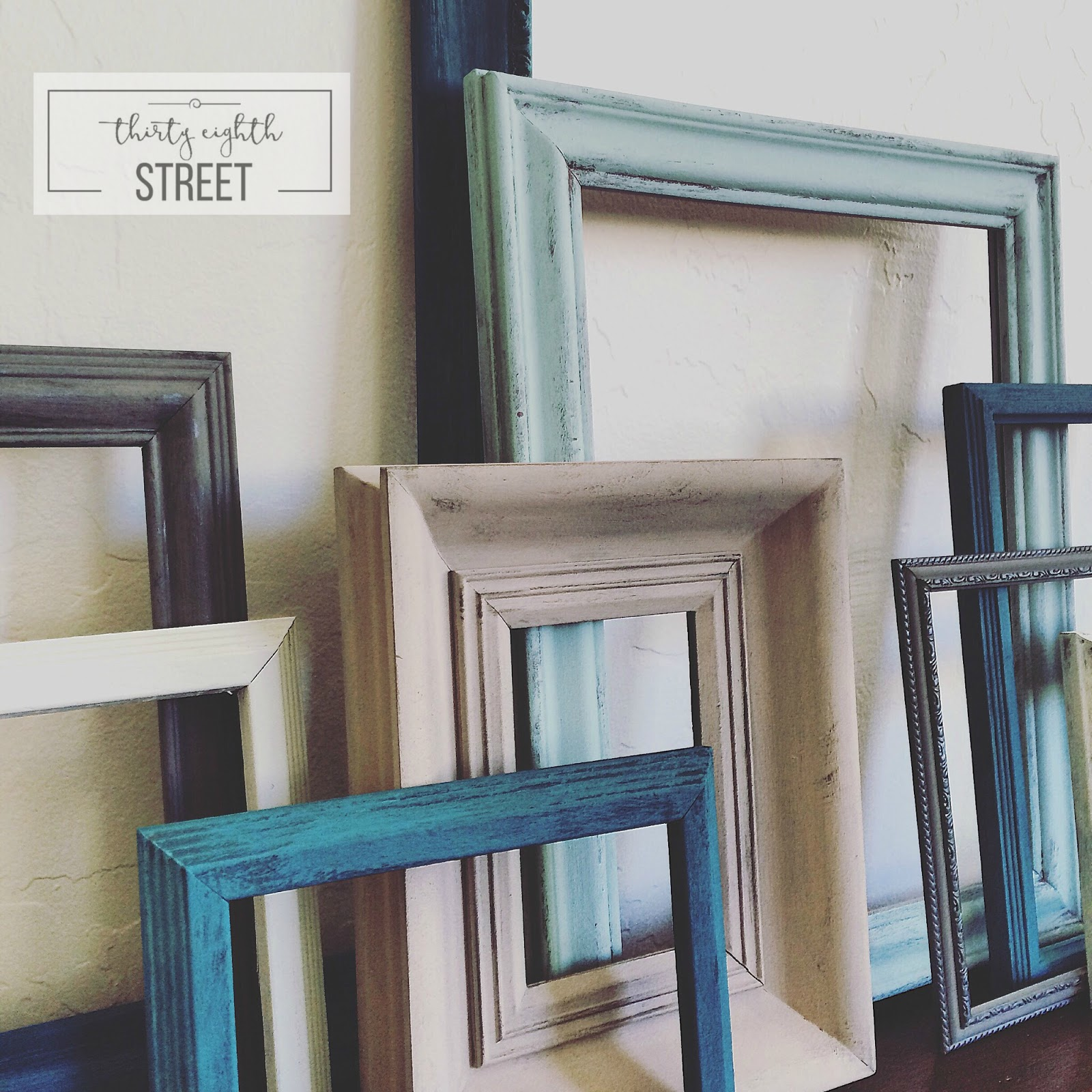Painting Frames Diy Painted Thrift Store Picture Frames Thirty Eighth Street