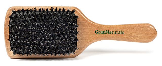 GranNatruals paddle brush for thinning hair