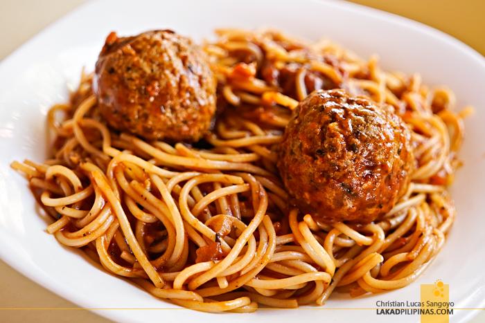 Jammers Boracay Spaghetti Meatballs
