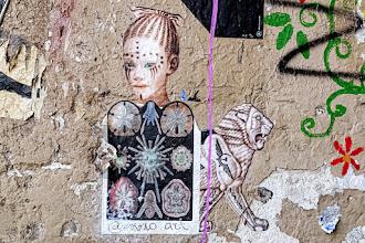 Sunday Street Art : Akelo-art aka Genia Akoulova - place Maurice Chevalier - Paris 20
