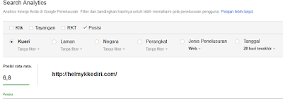 Cara cek posisi artikel diGoogle3