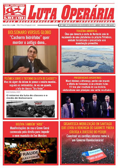 JORNAL LUTA OPERÁRIA Nº 342, 2ª QUINZENA DE OUTUBRO/2019