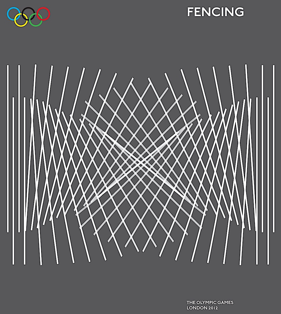 """""""FENCING, The Olympic Games London 2012, a poster"""