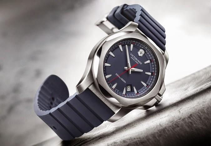 jam tangan original victorinox swss army inox blue