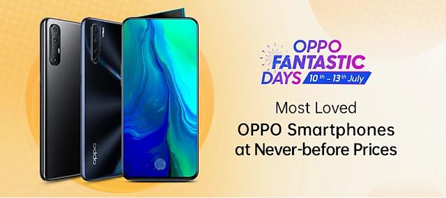 ओप्पो फंटास्टिक डे 10 जुलाई से 13 जुलाई तक ओप्पो के स्मार्टफोन पर मिल रही है भारी डिस्काउंट।