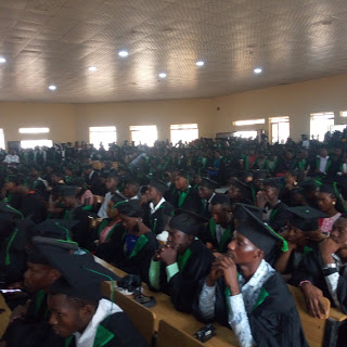 3 Days After Matriculation, Federal University Wukari Students Spotted Wearing Matriculation Gown