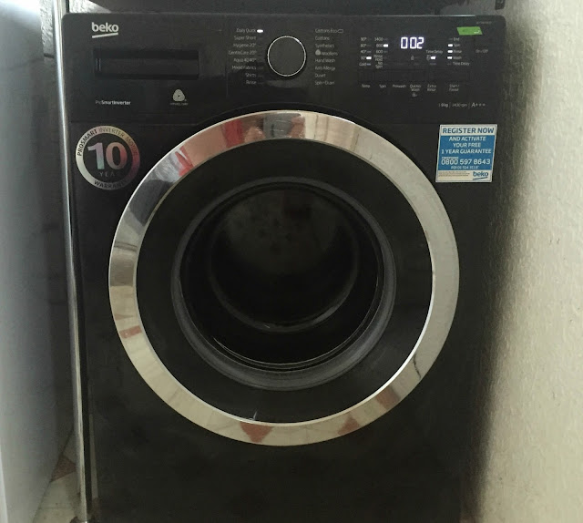 Black Beko Washing Machine