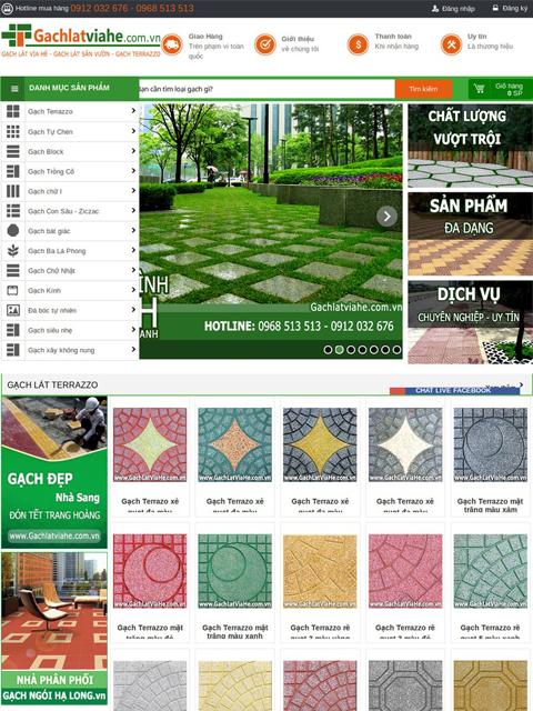 Website bán gạch lát vỉa hè - Ảnh 1