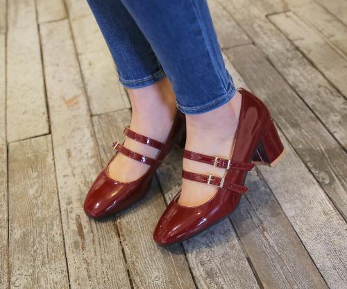 Double-Buckled Block Heels