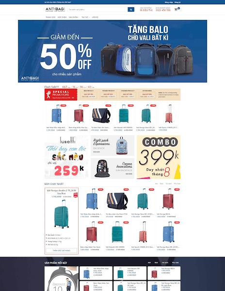 Template blogspot bán hàng Balo, túi xách thời trang