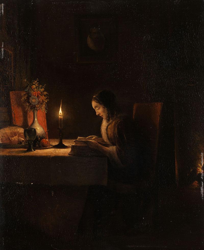 Leitura à Luz de Velas - Petrus van Schendel ~ Especialista em cena noturna