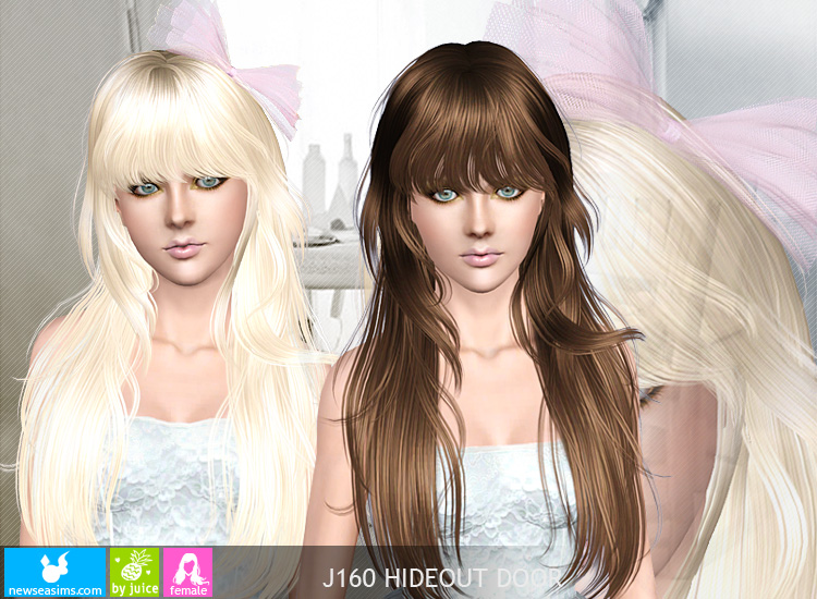 Newsea Sims3 Hair J160 Hideoutdoor Crar Fryzury The