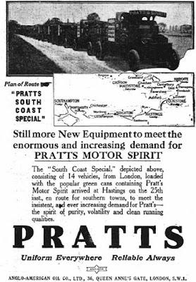 Pratts Motor Spirit Advertisement 1930s
