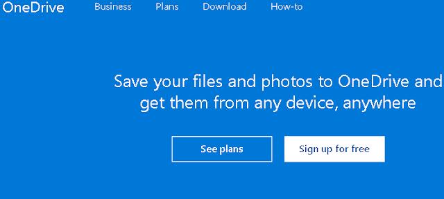 OneDrive Cloud Storage GRATIS Selain Google Drive