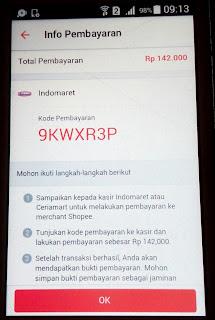 Kode Pembayaran di Shopee Via Indomart