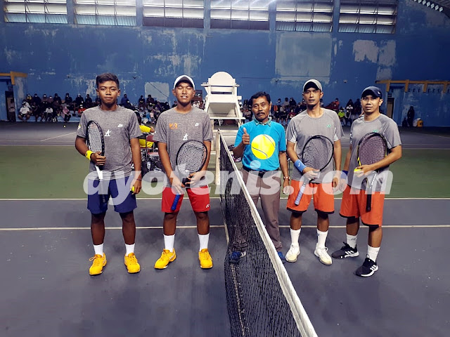 Team Gambas Garing Tulungagung Melaju ke Semifinal Kejuaraan Tenis Beregu Gandok Cup Yogyakarta