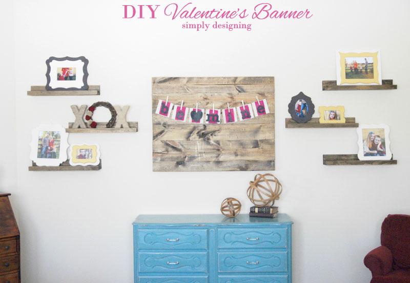 DIY Valentine's Day Banner | #banner #diy #crafts #valentinesday #burlap