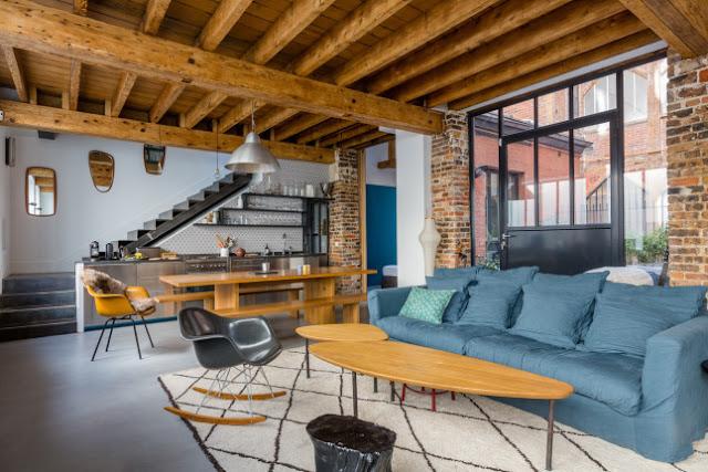 [Home] Loft vintage industrial con toques retro en París