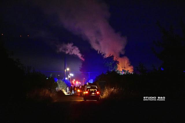 Κάηκε ολοσχερώς διώροφη μονοκατοικία στο Ηραίο Αργολίδος (βίντεο)