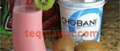 بروتين طبيعي- عصير فرولة و للبن