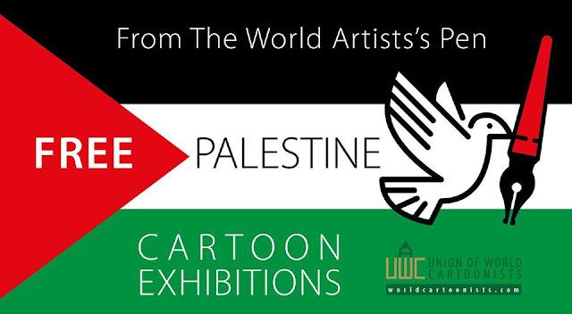"""Free Palestine"" Cartoon Exhibitions 2018"