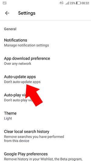 Auto-update apps