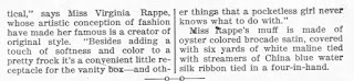 Virginia Rappe Muff Dress