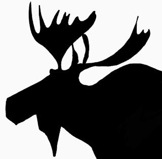 Silhouette Of Moose Head