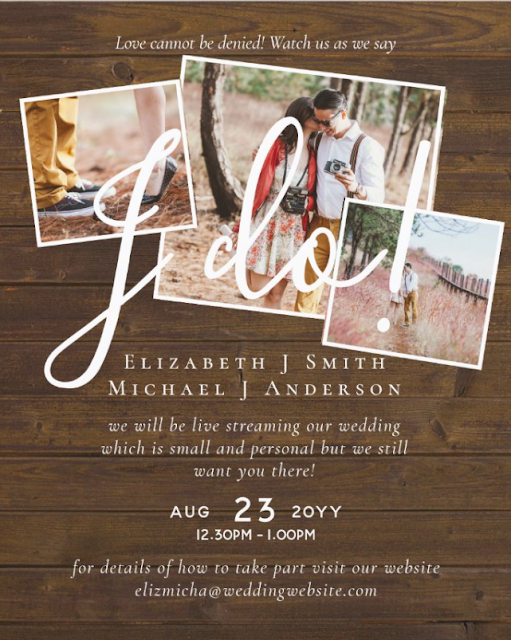 livestreaming wedding invitations budget template