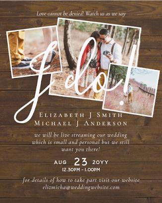 livestreaming wedding invitations budget template