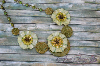 "Polymer clay jewelry ""Savannah"". Necklace. Boho style."