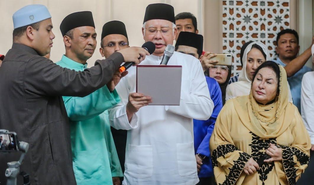 Najib Razak Sumpah Laknat