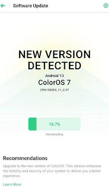 إصدار تحديث  Android 10 ColorOS 7 مستقر لـهاتف Oppo Reno2 F في الهند ومناطق أخرى  في 25 مايو