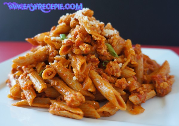 Healthy, spicy and easy Chicken pasta recipe at Home