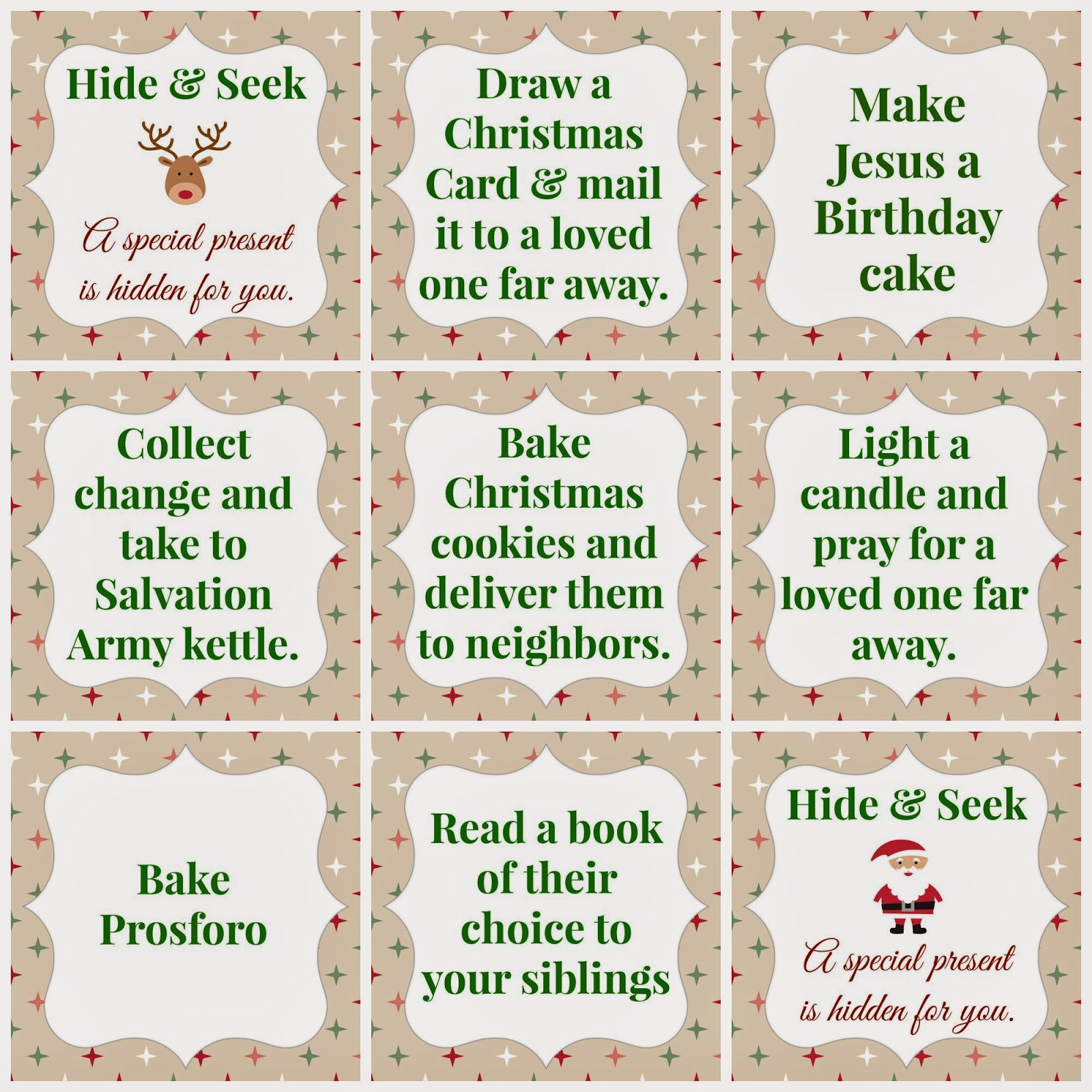 Monograms N Mud Giving To Others Advent Printables