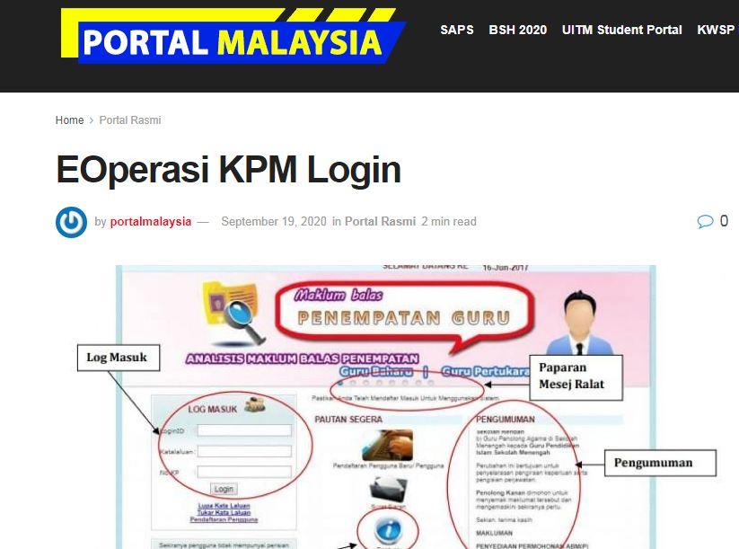 e-operasi kpm pangkalan data guru
