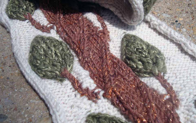 Use Kreinik Ombre as a carry along in knitting for a soft variegated metallic