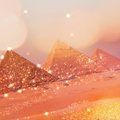 Is sand really magical the way crystals are? Take a look at the pyramids and tell me what you think.
