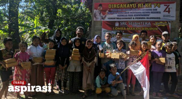DIRGAHAYU KE 74 RI: Pemuda Dusun Blumbang Wonokoyo Gelar Aneka Perlombaan