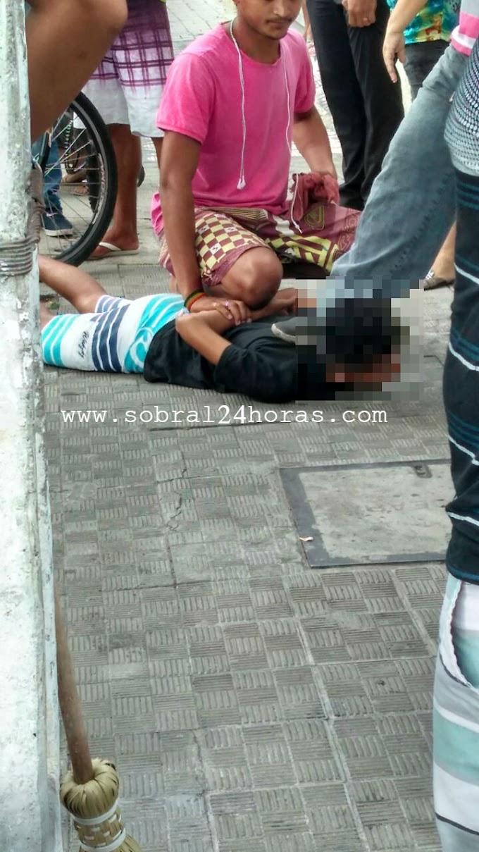 SOBRAL: Menor tenta praticar assalto e quase foi linchado pela população