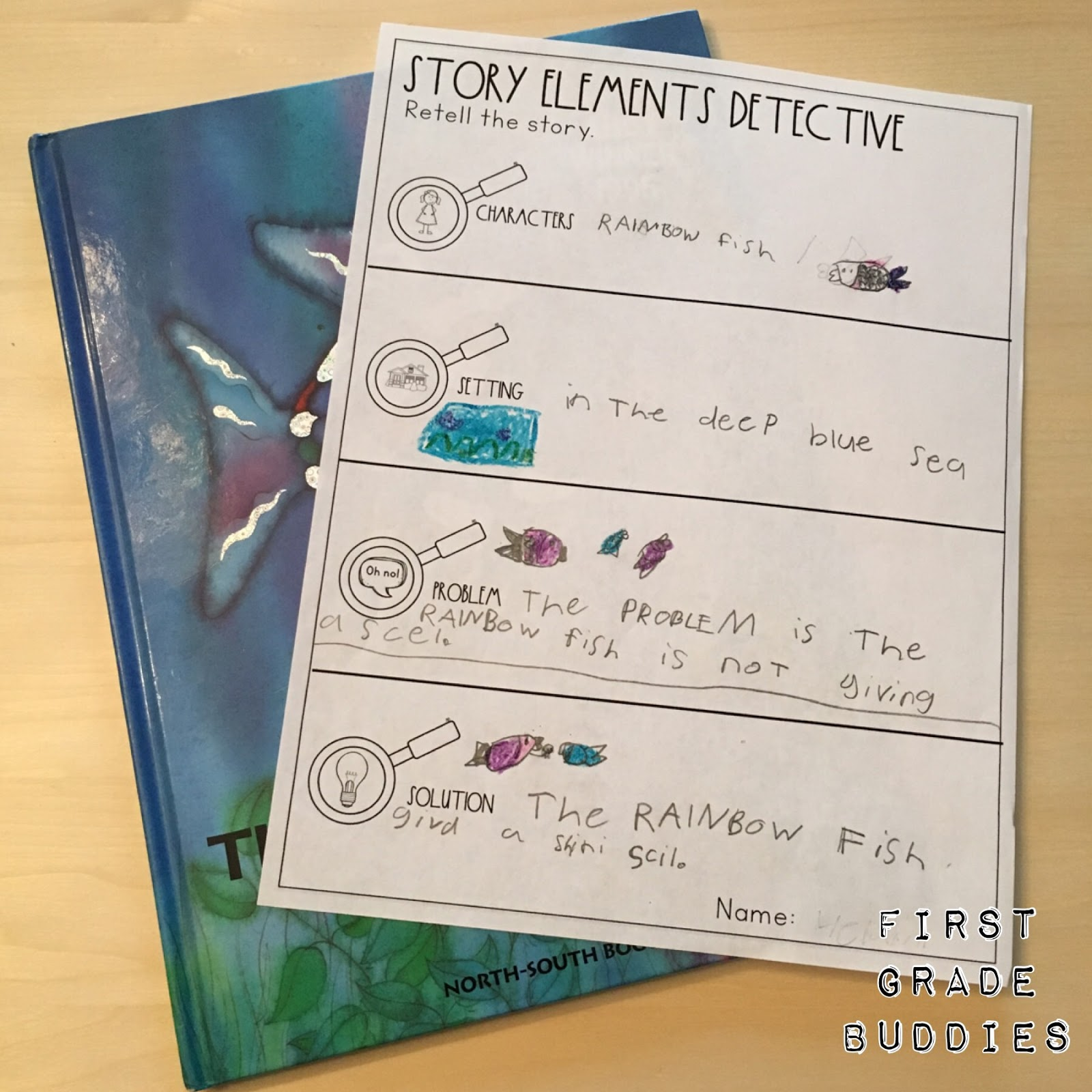 small resolution of Story Elements Detective   First Grade Buddies