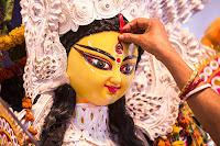 Goddess durga face