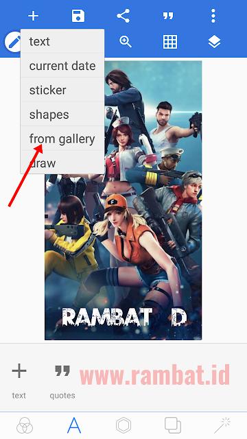 Download Font Free Fire dan Cara Membuatnya di PixelLab - Tap ikon plus