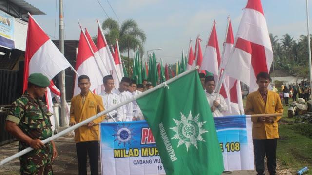 Cabang Wuluhan Peringati Milad Muhammadiyah Dengan Pawai Taaruf