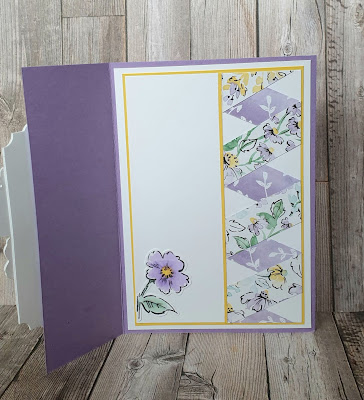 Hand-Penned Petals twisted ribbon border technique Stampin Up