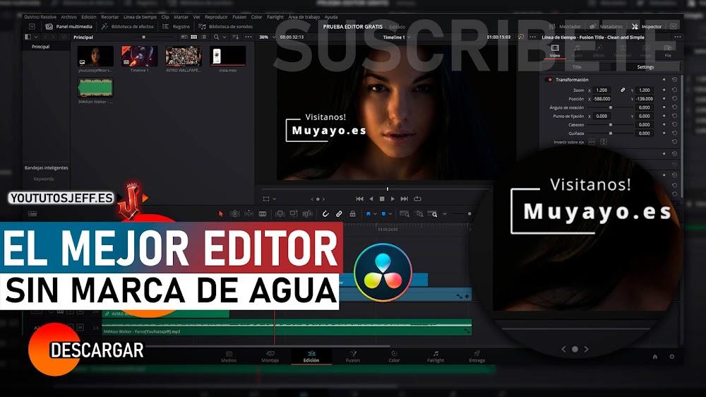 El Mejor Editor de Vídeos para PC GRATIS SIN MARCA DE AGUA