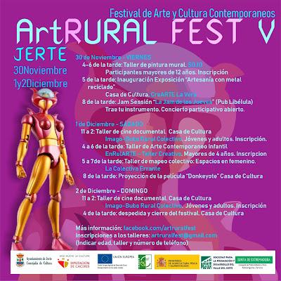 V Art-Rural Fest (30 noviembre, 1 y 2 diciembre 2018, Jerte)