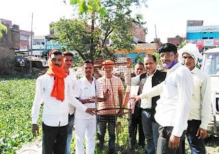 सर्वगूंज फाउंडेशन व बजरंग दल के पदाधिकारियों ने किया पौधरोपण | #NayaSaberaNetwork