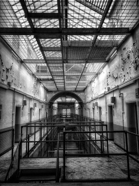Shepton Mallet Prison crumbling cell block
